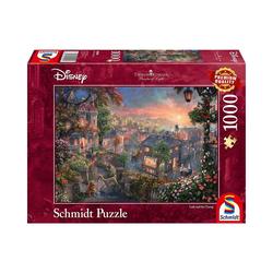 Schmidt Spiele Puzzle Puzzle 1000 Teile Thomas Kinkade, Disneys Susi und, Puzzleteile
