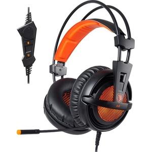 Sades A6 Gaming-Headset (Kompatibel mit PS4, PS5, Xbox One, Xbox Series X/S und Nintendo Switch) orange