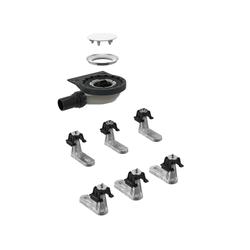 Geberit Setaplano Rohbau-Set 154021001 für Setaplano Duschfläche, 6 Füße, 40mm