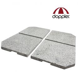 Doppler 4er-Set Granit Beschwerer Gewichte für Schirmständer (DP)