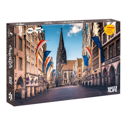 Winning Moves Steckpuzzle Puzzle Münster 1000 Teile, 1000 Puzzleteile
