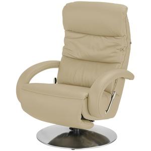 Hukla Leder-Relaxsessel beige - Leder Florian ¦ beige ¦ Maße (cm): B: 73 T: 91