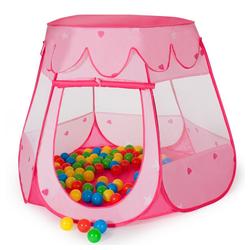 tectake Spielzelt Spielzelt mit 100 Bällen rosa