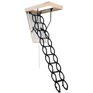 OMAN Bodentreppe 'Flex Termo' - Scherentreppe aus Metall (80 x 60)