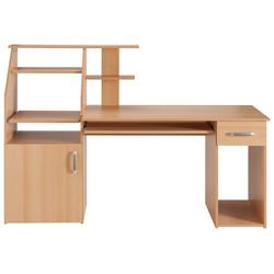Schreibtisch Don, mit Tastaturauszug natur