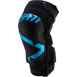 Leatt 3DF 5.0 Zip Motocross Knieschoner, blau, Größe S M