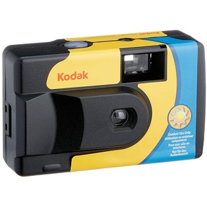 Kodak SUC Daylight 39 800ISO Einwegkamera, analog, Gelb/Blau