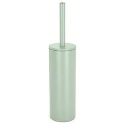 spirella Toilettenpapierhalter WC-Bürste AKIRA, Toilettenbürste mit hygienischem Innenbehälter, mit Deckel, matt-satiniert, ice grün grün