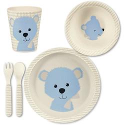 Sterntaler® Kindergeschirr-Set Bambus Geschirr Set, Baylee blu blau