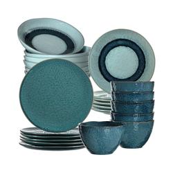 """LEONARDO Kindergeschirr-Set 24-tlg. Keramik Set """"MATERA"""", sand blau"""