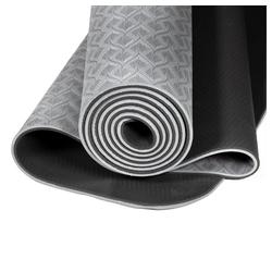 yogabox Yogamatte TPE 2-farbig grau