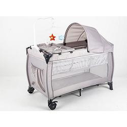 Dormi - Reisebett mit Wickeltisch grau