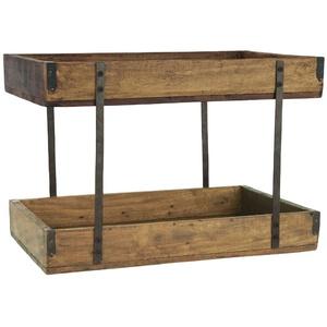 IB Laursen Holz Regal Tablett 2-stufig Etagere UNIKA Ständer Deko Aufbewahrung