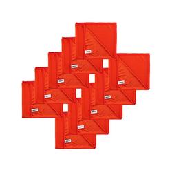 Kochblume Geschirrtuch Poliertuch 50 x 60 cm, (Spar-Set, 10-tlg), 280g/qm Qualtität rot