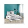 Dynamic24 Bettwäsche, dynamic24, 3tlg. Landhaus Bettwäsche 240x220 Bettdecke Set Garnitur Kissen Übergröße grau