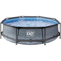 EXIT TOYS Pool Stone 300 x 76 cm grau inkl. Filterpumpe