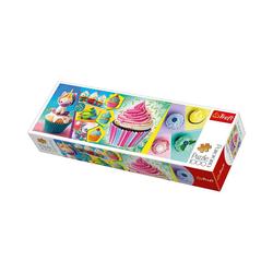 Trefl Puzzle Panorama Puzzle 1000 Teile - Cupcakes Collage, Puzzleteile