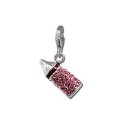 SilberDream Charm-Einhänger GSC555A SilberDream rosa Charm Nuckelflasche (Charmsanhänger), Charmsanhänger Nuckelflasche, 925 Sterling Silber, Farbe: rosa, fuchsia