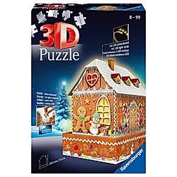 Lebkuchenhaus bei Nacht (Puzzle)
