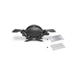 Weber Gasgrill Q1200 mit Bratenrost und Hitzeschild