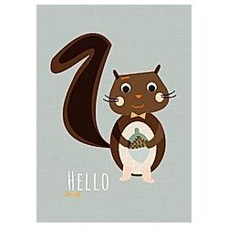 Postkarte Eichhörnchen (VE8)