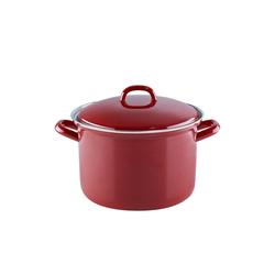 Riess Kochtopf Fleischtopf mit Glasdeckel RED Ø 22 cm