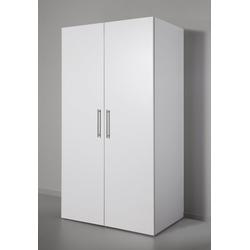 Miniküche mit Kochplatten und Kühlschrank weiß