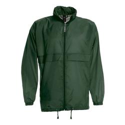 Damen und Herren Regenjacke | B&C dunkelgrün