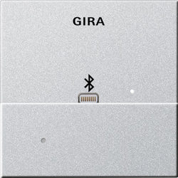 Gira 228726, Aufsatz Apple Lightning Dockingstation System 55 F Alu