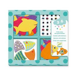 DJECO Sticker Sticker - Ich liebe Tiere bunt