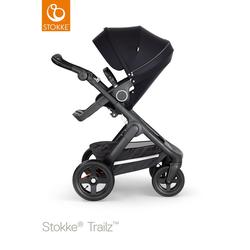 STOKKE® Kinderwagen Trailz™ Black/Black und Sportwagenaufsatz Black