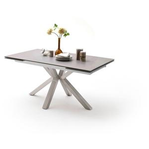 MCA furniture Esstisch Nagano, Esstisch Glas-Keramik mit Stirnauszug grau