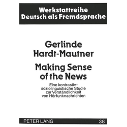 Making Sense of the News als Buch von Gerlinde Hardt-Mautner/ Gerlinde Mautner