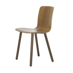 HAL Ply Wood Stuhl mit Kunststoffgleitern