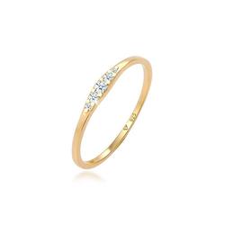 Diamore Diamantring Verlobungsring Diamant (0.09 ct) 925 Silber, Verlobungsring 58
