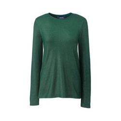 Metallic-Shirt aus Baumwoll/Modalmix, Damen, Größe: XS Normal, Grün, by Lands' End, Fichtenhain Metallic - XS - Fichtenhain Metallic