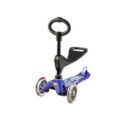Micro Scooter Mini Micro 3in1 Deluxe blau, inkl. T-Stange Kickboardreifen - PU Reifen, Kickboardart - Kickboard  1-5 Jahre , Kickboardfarbe - Blau,