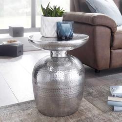 Orientalischer Beistelltisch aus Aluminium handgearbeitet