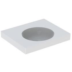 Geberit Waschtisch II PRECIOSA 600 x 500 mm, mit Ablagefläche, ohne Hahnloch, ohne Überlauf weiß