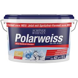 SCHÖNER WOHNEN-Kollektion Wandfarbe Polarweiss, 5 l, starke Deckkraft