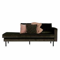 Sofa in Dunkelgrün Stoff
