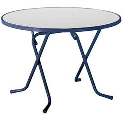 BEST Gartentisch Primo blau rund