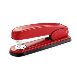 Novus B 6 Heftgeräten, Tacker für ein störungsfreies Heften, Farbe: rot