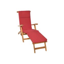 Beautissu Polsterauflage LoftLux DC, für Gartenliege 200x60x5cm rot