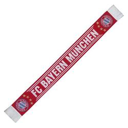 FC Bayern Schal Home mit Logo rot/weiß
