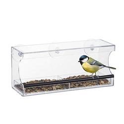 relaxdays Vogelfutterspender   transparent 30,0 x 12,0 x 13,0 cm