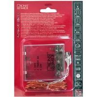 Konstsmide 1461-860 Micro-Lichterkette Innen batteriebetrieben Anzahl Leuchtmittel 40 LED Bernstein