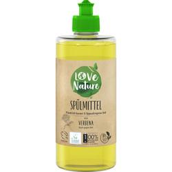 Love Nature Spülmittel, Verbena, Umweltfreundliches Handspülmittel für strahlend sauberes Geschirr , 470 ml - Flasche