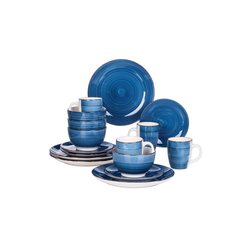 vancasso Tafelservice Bella (16-tlg), Steingut, 16-tlg Tafelservice blau