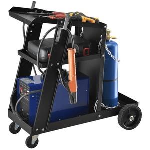 Pro-tec Werkzeugtrolley, Schweißwagen mit 3 Ablageflächen und Gasflaschenhalter